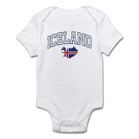 CafePress - Iceland Map English Infant Bodysuit - Cute Infant Bodysuit Baby Romper (Reykjavik City Map)