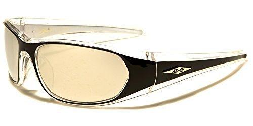 Sport Sonnenbrille Herren und Damen Silber Blau verspiegelt X-Loop luFh2y2w