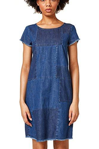 ESPRIT Kleid Blue Medium Damen Mehrfarbig 902 Wash ww5Fzrq