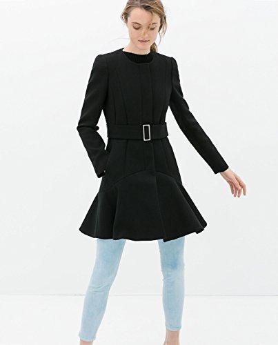 Bloggers Zara negro perchero de pared de mezcla de lana de ...