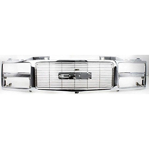 (Grille for GMC C/K Full Size Pickup 88-93 Chrome W/Dual Headlight Holes)