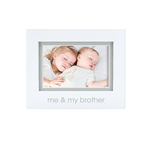 Pearhead Me and My Brother Photo Frame, White