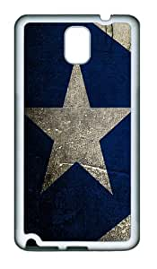 Blue background star as TPU White Samsung Galaxy Note 3 Cases