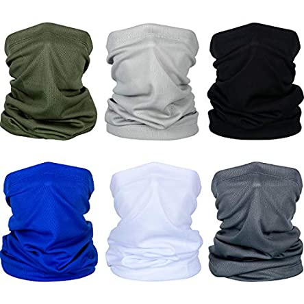 6 Pieces Summer Face Cover UV Protection Neck Gaiter...