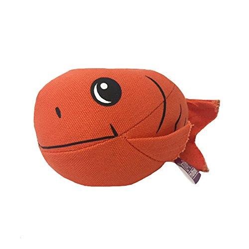 "Multipet Slinger Plush Fish 6"" Dog Toy"