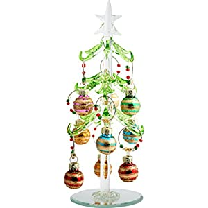 Festive Holiday Crystal Tree & Wine Charm - Contains 1 Tree Stand and 9 Wine Charms 113