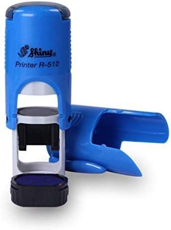 Timbro personalizzato a piacere diametro /Ø 12 mm Shiny R-512 ideale per logo o simbolo mini-timbro autoinchiostrante comodo da trasportate