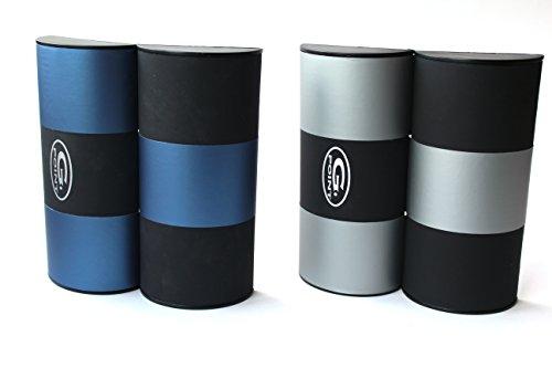 Magic Pantalla Glasses Plata Glasses Case Azul Negro SS1rR