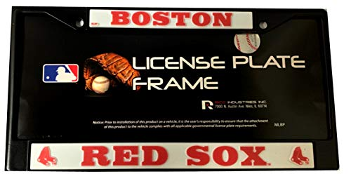 Rico Boston Red Sox MLB License Plate Frame, Black(Metal) -