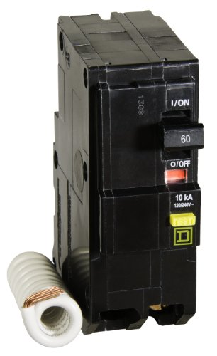 60a 2 Pole Breaker (Square D by Schneider Electric QO260GFICP QO 60-Amp Two-Pole GFCI Breaker)