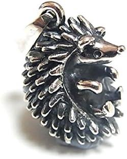 はりねずみ アクセサリー 『 ハリネズミ ペンダントトップ 』 林檎屋 シルバー アニマル 針ネズミ 動物 個性的 カワイイ おもしろ 面白い レディース プレゼント 奇抜 ネックレス