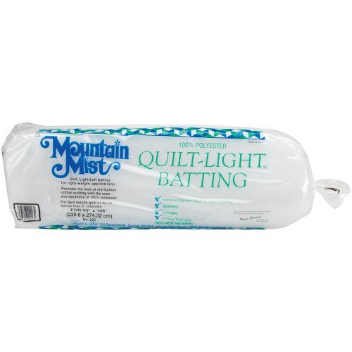 Mountain Mist Quilt-Light Polyester Batting, Queen 90-inch-by-108-inch