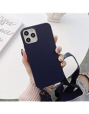 Tybiky Mobiltelefonkedja fodral för iPhone 13 med snodd mjukt silikon mobiltelefonfodral för iPhone 13 Pro med snyggt band snöre för kedja för upphängning skyddande fodral smartphone, kompatibel med iPhone 13 Mini