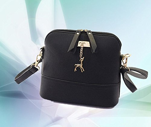 Black with Tassel with Deer CieKen Bag Small Pendant Medium Clearance Crossbody Lightweight wBR7xT0xqP