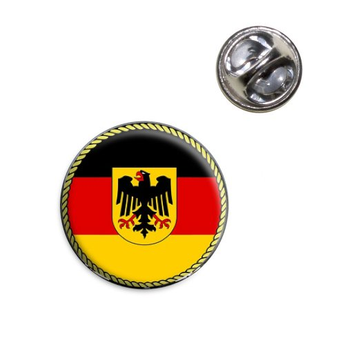 Flag of Germany with Crest Lapel Hat Tie Pin - Crest Pin Hat