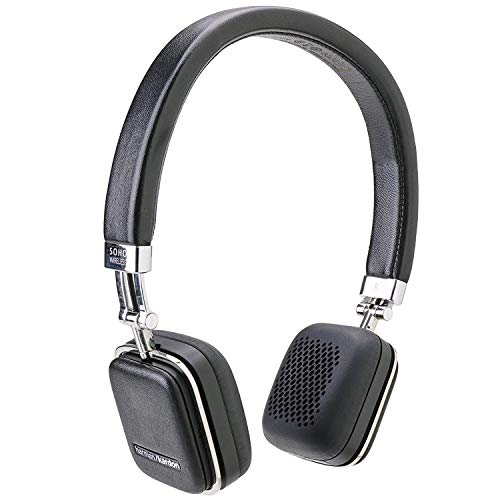 Harman Kardon SOHO Black Premium, On-Ear Headset with Bluetooth Connectivity and Touch Control (Renewed)
