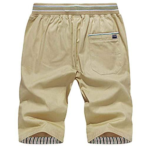 color Chinoshorts Festivo Pantaloncini Kahaki 4xl Uomo Da Nner Abbigliamento Color Cargo Pantaloni Con Tinta Vintage Corti Size Lannister Casual Unita CdaOzWz