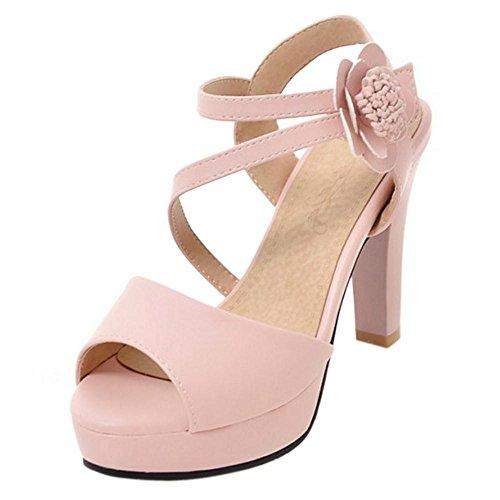 Pink Peep Tacco Donna Toe RAZAMAZA Alto Sandali SnYH7czqB