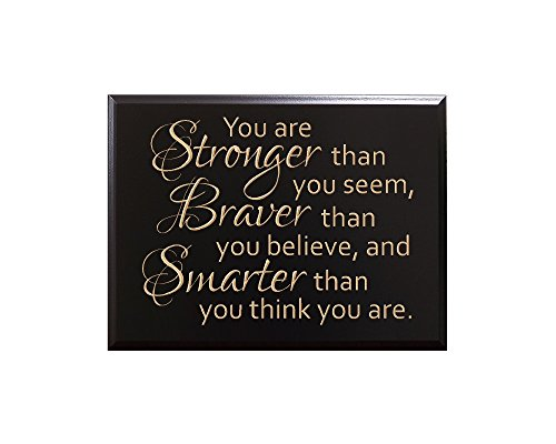 (TimberCreekDesign You are Stronger than you seem, Braver than you believe, and Smarter than you think you are. by Christopher Robin Decorative Carved Wood Sign Quote,)