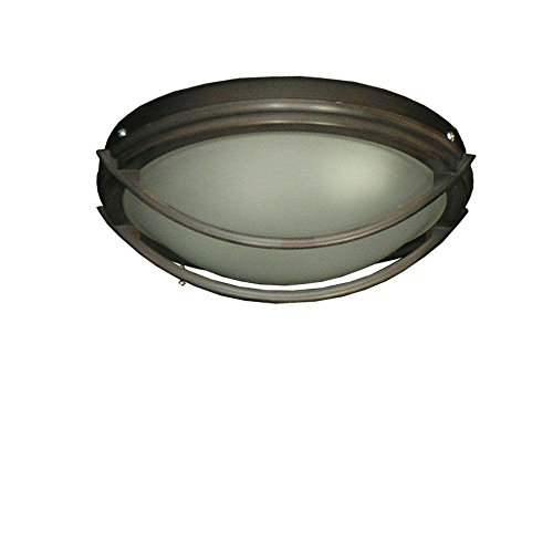 Price comparison product image 163 Low Profile Oil Rubbed Bronze Indoor / Outdoor Ceiling Fan Light