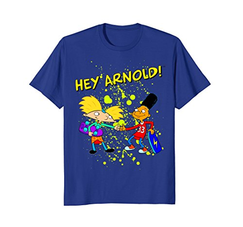 Nickelodeon Hey Arnold Double Thumbs Up Skateboard T-Shirt