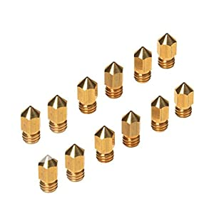 Asayu 12Pcs 3D Printer 0.4mm Extruder Brass Nozzle Print Head for MK8 Makerbot RepRap Prusa from Asayu