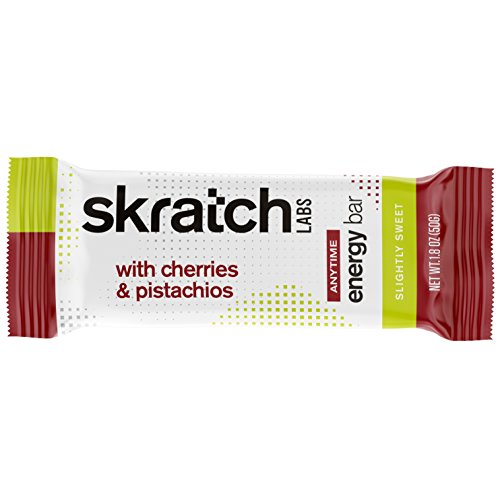 Skratch Labs: NEW Anytime Energy Bars, Cherries and Pistachios, 12-pack box (non GMO, vegan, kosher, dairy free, gluten free, low sugar, delicious) (Pistachio Bar)