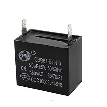 DealMux AC 450V 5UF película del polipropileno del motor del ...