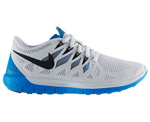 Nike Wmns Free 5.0, Scarpe da Corsa da Donna White/black/blue