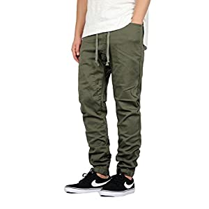 Mersenne Men's Twill Drop Crotch Jogger Pants