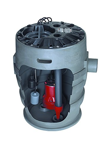 Liberty Pumps P372LES51 Sewage Pump System, 1/2HP, 115V, 2'' discharge, 21''x30'' basin by Libert Pumps