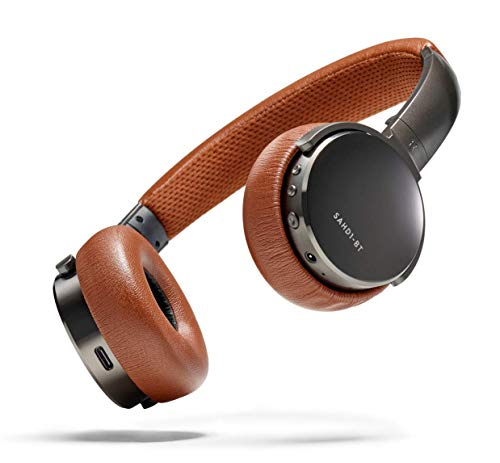 Status Audio BT One Wireless On-Ear Headphones – Bluetooth 5.0. + aptX, 30 Hours of Battery, USB-C + Quick Charge, Award Winning Sound + Minimalist Metal Design, Gunmetal Grey + Brown (Umber)