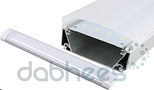 LED MODERNO Low Profile Fino Techo Tubo Luz Difuso Tapa & Aluminio caja - Blanco, 120mm 40W: Amazon.es: Hogar