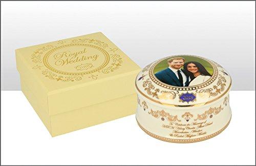 Family Keepsake Plate - H.R.H. Prince Harry & Meghan Markle Royal Wedding 19th May 2018 Commemorative Souvenir Ceramic Trinket Box