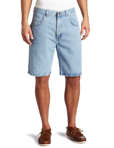 Wrangler Men's Rugged Wear Relaxed Fit Short, Vintage Indigo, -