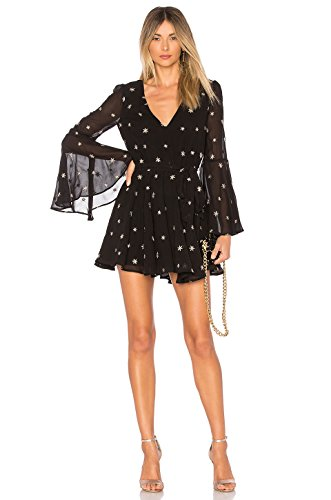 New Lovers + Friends Lila Black and Gold Star Dress hot sale