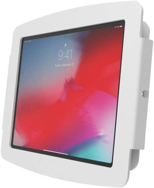 Compulocks Brands White 102IPDSW Space Wall Mount for iPad 10.2 Screen Support 100 x 100 VESA Standard
