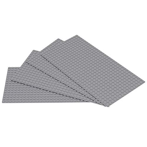 Sawaruita Classic Gray Baseplate Supplement 5 x 10 Building Bricks Sets Compatible with All Major Brands Kids Games