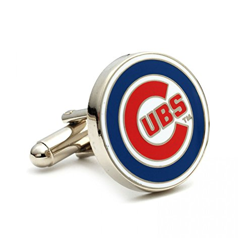 Chicago Cubs Cufflinks - Cubs Silver Chicago Cufflinks