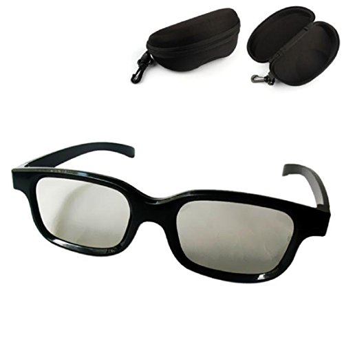 3D Glasses Make Eyes See 3D Effect Movie Passive TV with Glasses Box Case