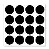 "1"" inch Round Chalkboard Labels - Reusable Round"