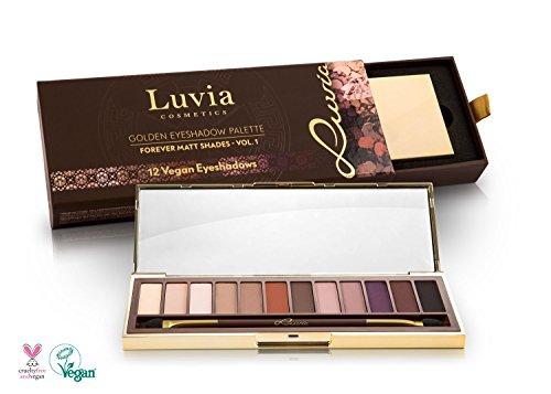 Luvia Cosmetics - Lidschatten Palette Forever Matt Shades Vol. 1 - Golden Eyeshadow Palette - 12 Lidschatten in einer Palette Ideal als Geschenk für Frauen oder als Weihnachtsgeschenk für Frauen - Lidschatten Vegan Make Up