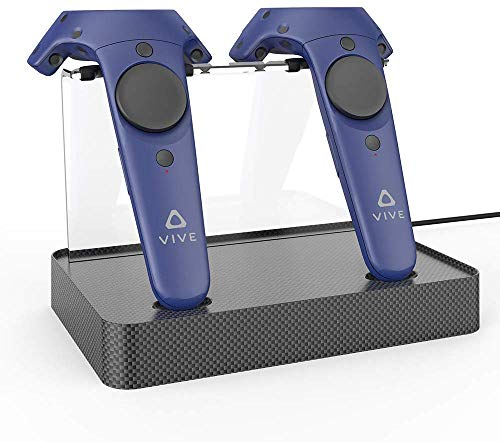 AFAITH Dual Charger for HTC VIVE & VIVE PRO Controller, Magnetic Charging Stand Station, Support Firmware Upgrade