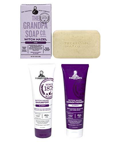 - GRANDPA'S ORIGINAL WITCH HAZEL BAR SOAP | SHAMPOO | CONDITIONER | PERSONAL WITCH HAZEL COLLECTION| 3 PACK VALUE BUNDLE SET