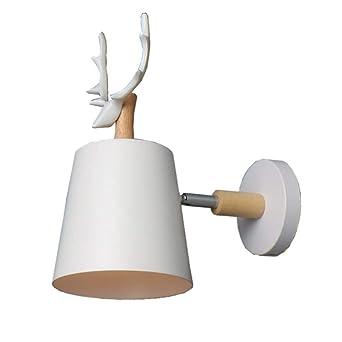 Creative Shofar Style Lámpara de pared de madera maciza con ...