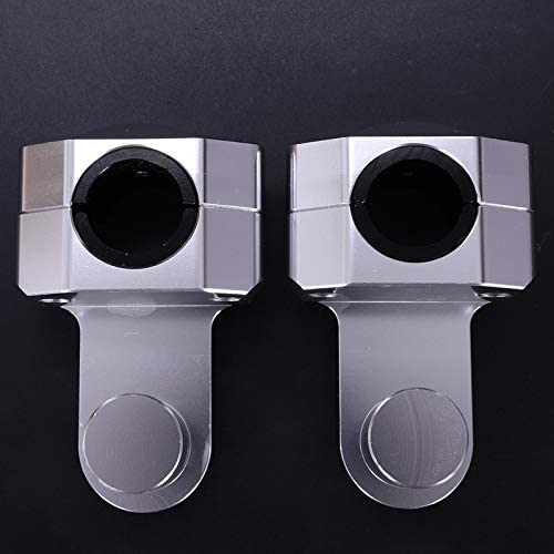 Silver RETYLY Motorcycle 28Mm 1-1//8 inch Pivoting Handlebar Riser Handle Bar Clamps for 690 990 Adventure Triumph Tiger 800 1200 XT1200Z