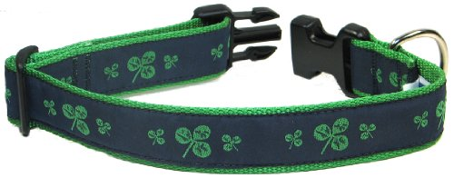 Preston Shamrock Dog Collar, Medium, 13-inch to 20-inch