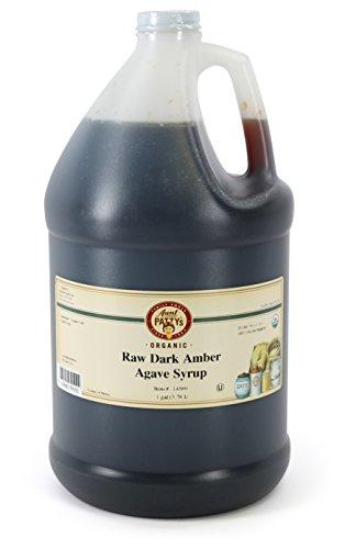 Aunt Pattys Raw Dark Amber Wild Salmiana Agave Syrup, 128 Fluid Ounce