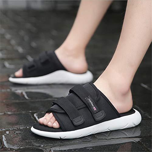 Negro tamaño 2 Hombres para Negro Zapatillas 3 Negras EU Zapatillas Color Exterior De Zapatillas Cómodas Superficie Zapatillas 42 Wangcui De w6Hpqgx6