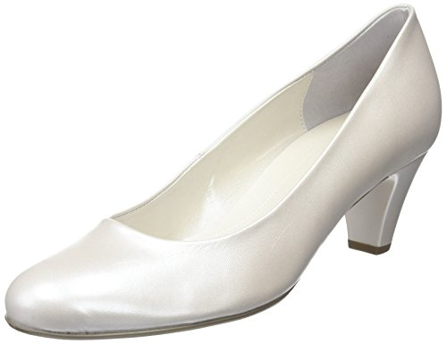 Gabor Women's, Vesta 2, Closed-Toe Pumps & Heels Beige (Off White Pearlised Leather)